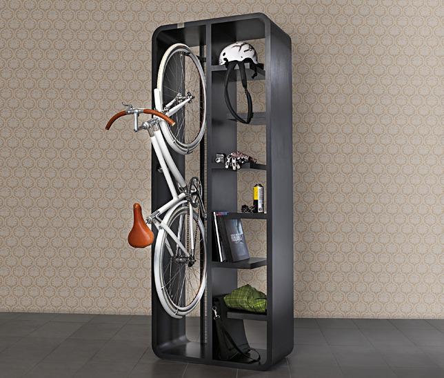 14 formas atractivas e inteligentes para almacenar tu bicicleta en interiores