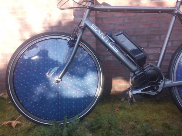 Bicicleta eléctrica solar
