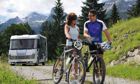 Bicicletas eléctricas en la autocaravana