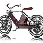 Bicicleta Eléctrica con Revestimiento de Cuero y madera
