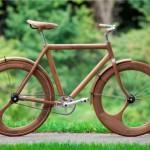 bicicleta fixed de madera