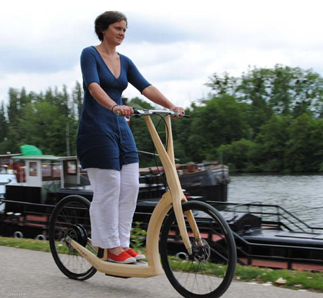 scooter eléctrico madera