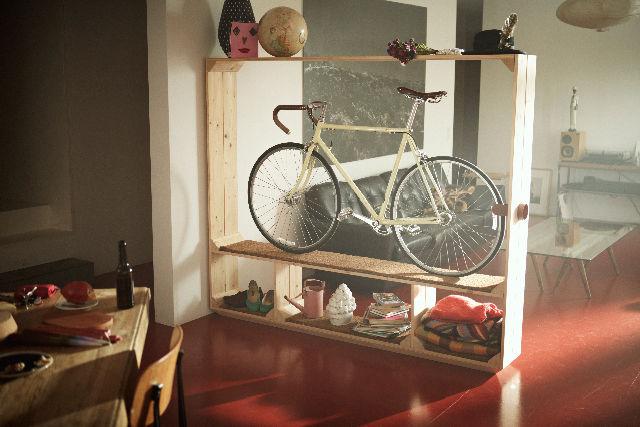 14 formas atractivas e inteligentes para almacenar tu - Guardar bicicletas en poco espacio ...