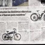 Bikelec en el periódico la Razon
