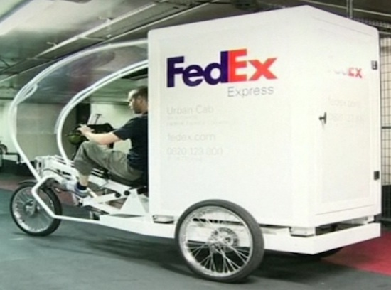 fedex tricycle electrico carga