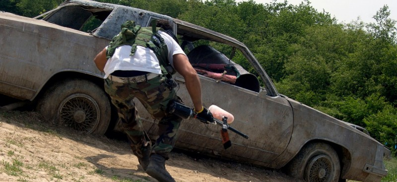 paintball coche